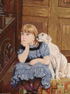 Gallery.ru / Photo # 164 - behold the beauty-139 - GAVRUCHA// Petit Point/ Maria L.Bertolino/ www.pinterest.com... Cross Stitch Angels, Cross Stitch For Kids, Cross Stitch Embroidery, Cross Stitch Patterns, Kids Patterns, Stitch 2, Flower Frame, I Love Dogs, Needlepoint