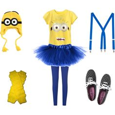 Minion Halloween outfit by lydia129 on Polyvore featuring Joseph, Keds and American Apparel