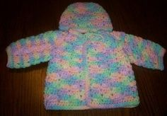 Twin Stitch Baby Sweater, Hat & Booties free crochet pattern