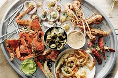 Grilled seafood platter - Christmas party inspiration http://www.taste.com.au/recipes/25526/grilled+seafood+platter