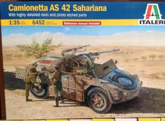 modellismo statico: camionetta AS 42 SAHARIANA scala 1/35 cod.6452 italeri