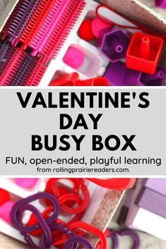 If your children are excited about Love Day, you'll love our Valentine's Day busy box! This fun and easy, independent play activity is perfect for stay-at-home moms and work-at-home parents who need a few minutes to get something done.
