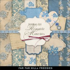 New Freebies Kit - Romantic Memories:Far Far Hill - Free database of digital illustrations and papers