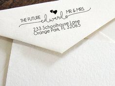 Personalized SELF INKING Wedding Stationery Stamper, Save the date stamp, Custom wedding address stamp, Self-Inking Personalised Stamp