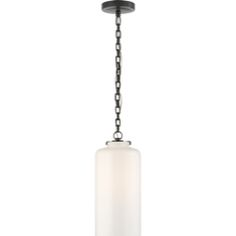 Thomas O'Brien Katie Large Fitter Pendant in Bronze with White Large Cylinder Glass by Visual Comfort TOB5226BZ/G3-WG