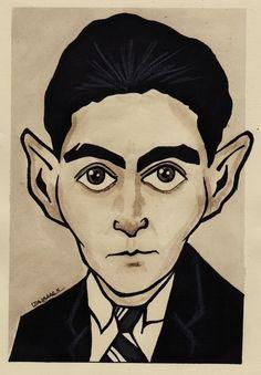 Franz Kafka karikatür çizim