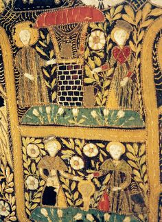 Mary in the Rose Garden, Century Tapestry in the St Marien Kirche, Rostock, Germany Medieval Embroidery, Medieval Tapestry, Clermont, Christian Art, 15th Century, Vintage Sewing, Textile Art, Fiber Art, Embroidery Patterns