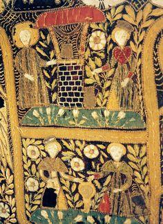 N e e d l e p r i n t: Mary in the Rose Garden, 15th Century Tapestry in the St Marien Kirche, Rostock, Germany