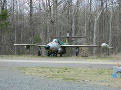 Northrop F-89J Scorpion left outside