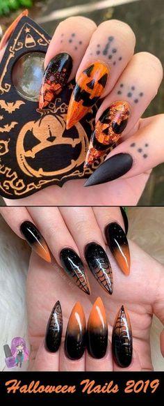 Halloween Acrylic Nails, Cute Halloween Nails, Fall Acrylic Nails, Halloween Nail Designs, Autumn Nails, Halloween Ideas, Halloween Recipe, Women Halloween, Halloween Projects