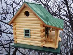 Log Cabin Birdhouse. $185.00, via Etsy.