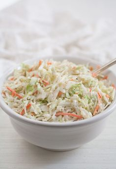 Just like my favorite potato salad recipe, this coleslaw recipe has been with me for many years, always evolving to reach that higher state of being. Over the years, I've. Creamy Coleslaw, Creamy Cucumber Salad, Classic Coleslaw Recipe, Cowboy Beans, Summer Side Dishes, Slaw Recipes, Corn Beef And Cabbage, Macaroni Salad, Healthy Eating