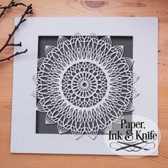 Mandala Magic Mosaic - Papercut Template