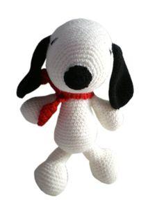 Snoopy amigurumi di Lallila su Etsy