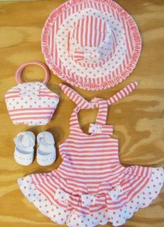 18 Inch Doll Clothes for American Girl 4PC SUMMER SUN DRESS, SHOES, HAT, PURSE !!! by The Wishlist Store. $24.95. Beautiful Sun Dress Outfit for American Girl Doll, 18 Inch Doll Clothes.. Very Detailed Outfit!!. Includes Dress, Hat, Bag and White Espadrile Sandal Shoes.. Beautiful Summer Fun Dress Outfit for American Girl Doll or 18 Inch Dolls!