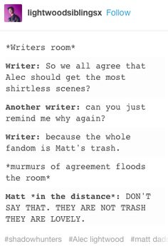 I love Matt so much wow wow wow