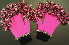 Cheer Spirit gloves, cheerleading gifts, pom pom gloves #hotpink #black #white. Cheer Spirit, Spirit Gifts, Football Cheer, Football Moms, Softball, Cheer Coaches, Cheer Mom, Cheer Gifts, Team Gifts