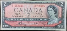 Canada had two dollar bills as well. I've actually met an Inuit named Paul Idlout, who is on the back of this bill in a scene from Pond Inlet (Mittimattalik), Baffin Island, Nunavut. Canadian Things, I Am Canadian, Canadian History, Ottawa, 2 Dollar Bill, King George Iv, Two Dollars, Canada 150, True North