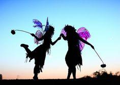 Twig the Fairy and Zinnia the Fairy Magical Silhouette Freestone Park Gilbert AZ! by gbrummett, via Flickr