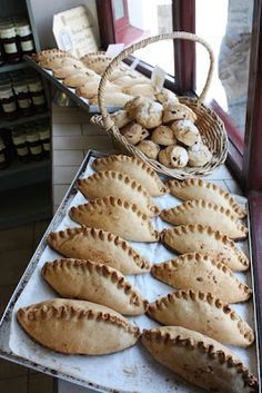 Cornish pasties, in Cornwall - because it's Cornwall. It's what the Cornish miners used to eat. Thats Not My Age, Cornish Pasties, Holidays In Cornwall, Into The West, Devon And Cornwall, England And Scotland, English Food, Bakery, Yummy Food