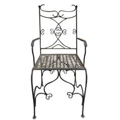 "Oaxaca forged iron chair for veranda, rustic patio and garden. It is hand made in black iron, rusted and natural finishing. Forged Iron Chair ""Oaxaca"" by Rustica House."