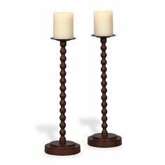 """Cooper Candleholder (Set of 2) by Port 68. $100.99. ACEM-126-03 Features: -Candleholder. Construction: -Metal construction. Color/Finish: -Color: Burnish nutmeg. Dimensions: -Overall dimensions: 18"""" H x 5.5"""" D."""