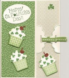 St. Patrick's Day Scalloped Tie Card by bizzyoma44 - Cards and Paper Crafts at Splitcoaststampers