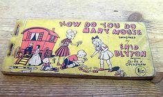 "Vintage Enid Blyton ""How Do You Do Mary Mouse"" Strip Cartoon Book"