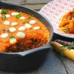 Ovenschotel met gehakt, wortel en mozzarella