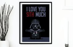 Darth Vader Sith Much Star Wars Valentine by SashaBellaDesigns