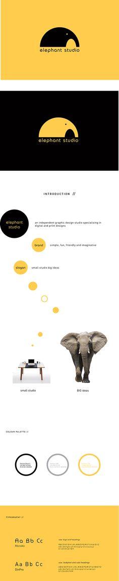 Elephant Studio | Branding by Raminta Vas, via Behance