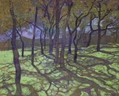 Shadow Ground by Karin Daymond Extraordinary colorist! (Karin Daymond documents the South African landscape where she lives. Contemporary Landscape, Landscape Art, Landscape Paintings, Shadow Painting, Painting & Drawing, Painting Trees, Tree Paintings, South African Artists, Nature Tree
