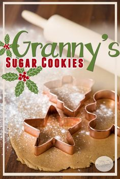 I can't live a single Christmas without granny's best roll out sugar cookies. It's a memory that keeps us baking year after year. These sugar cookies are no-fail plus they taste amazing. It's a win-win!