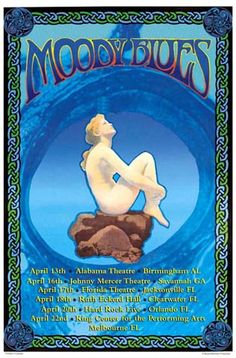 The Moody Blues concert poster. art by Bob Masse Rock Posters, Band Posters, Blues Rock, Classic Rock Albums, Hippie Music, Rock & Pop, Vintage Concert Posters, Rhapsody In Blue, Classic Rock And Roll
