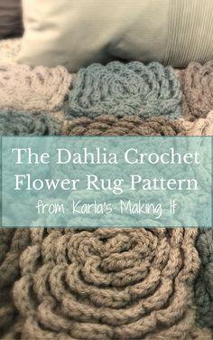 The Dahlia Crochet Flower Rug