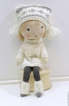 Купить Вязаная кукла Саша - разноцветный, кукла ручной работы, кукла, кукла…