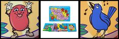 Birds, Bugs and Beans is a silly and fun game by R & R Games. A card game meant for ages 6 and up (but the Diva can play too!) that has you slapping, clapping and making the Pfftt noise while laughing and having a great time. Who doesn't like to make a Raspberry noise?