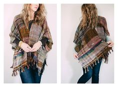 made by Pipyr Dooley Plaid Scarf, Kimono Top, Spinning, Scarves, Inspiration, Style, Art, Fashion, Ponchos