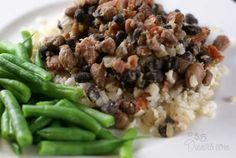 Ranchero Black and Pinto Beans - Rice and Beans Budget Recipe