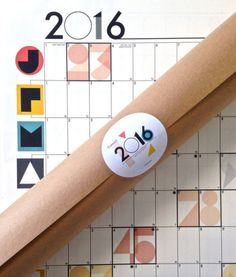 Cumulo 2016 Wall Planner Calendar - Trouva