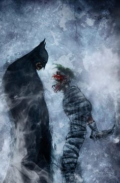 Batman vs. The Joker. This is Dark. ArtandFrame-x.com #Art