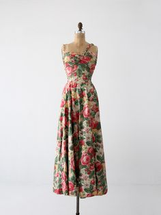 vintage 1940s maxi dress