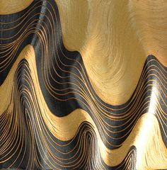 Ripples ~ Honey Ripple ~ patterns abound and rhythm and movement and nothing is flat on these undulating sgraffito carved handmade porcelain tiles