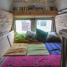 WEBSTA @ alifeonland - Our crazy plan for a bed made of foam cushions actually worked!  Blog post coming soon with all the deets. One week until full-time van dwelling!