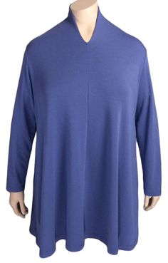 THE PERFECT Top For Apple Shapes!  (Also Available in Black and Tree) Kleen Long High Neck Swing Top, $88.00 (http://www.fictionnewyork.com/kleen-long-plus-size-swing-top/)