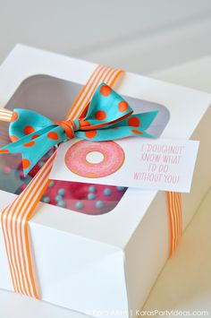 DIY Teacher + Friend Gift Idea | Homemade Donuts- I Doughnut know what I would do without you! Kara Allen | KarasPartyIdeas.com | Kara's Party Ideas #michaelsmakers