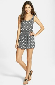 Lush Print Romper (Juniors) available at #Nordstrom