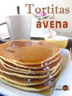 Receta. Tortitas de avena. Sin gluten. Sin lactosa.//Recipe. Oatmeal pancakes. Glutenfree. Lactosefree. //Blog Somosgolosos.