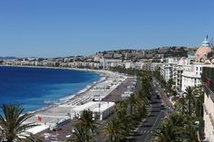 Chaos: This is the scene in Nice today where the lorry raced the length of the famed Prome...