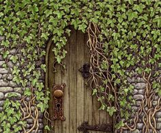 """""""Then she slipped through it, and shut it behind her, and stood with her back against it, looking about her andbreathing quite fast with excitement, and wonder, and delight. She was standing inside the secret garden."""" ~ Frances Hodgson Burnett"""
